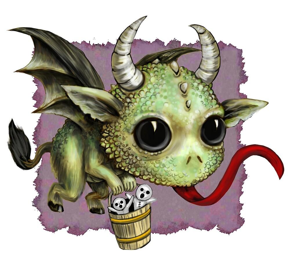 Krampus Dragon by DianaLevinArt