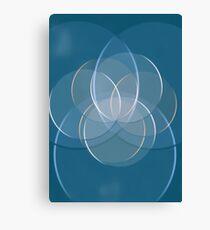 Blue Yoga Lotus Canvas Print