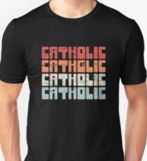 Retro 70s CATHOLIC Text Unisex T-Shirt