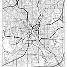 San Antonio Map Minimal by HubertRoguski
