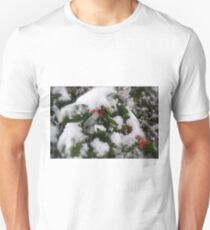 Snow Cover Holly Unisex T-Shirt