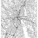 Providence Map Minimal by HubertRoguski