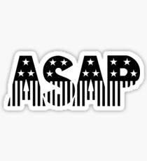 ASAP Stars And Stripes Shirt Sticker