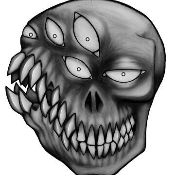lotsa teeth (Grayscale) by GrotesqueGuts