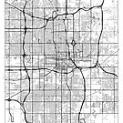 Oklahoma City Map Minimal by HubertRoguski
