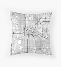 Minneapolis Map Minimal Throw Pillow