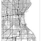 Milwaukee Map Minimal by HubertRoguski