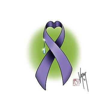 Cancer awareness heart ribbon by Steve-Varner