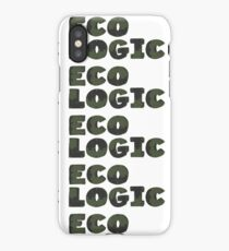 Typography Word Eco Logic  iPhone Case/Skin