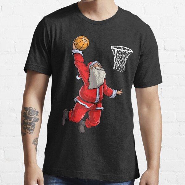 Basketball Santa Slam Dunk T Shirt Christmas Xmas Ball Sport Essential T-Shirt
