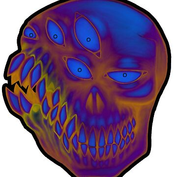 lotsa teeth (colorful) by GrotesqueGuts