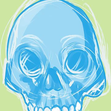 Single Blue Skull by Lovonne