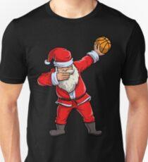Dabbing Santa Basketball T Shirt Christmas Hat Ball Sport Unisex T-Shirt