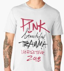 Pink Beautiful Trauma World Tour 2018 Men's Premium T-Shirt