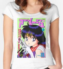 Sailor Mars Magazine Women's Fitted Scoop T-Shirt