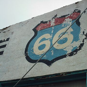 Old 66 Shield New Mexico by spiritofroute66