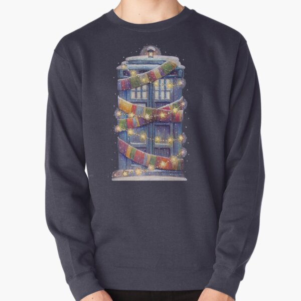 Christmas Police Box Pullover Sweatshirt