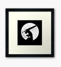 Berserk Moon Framed Print