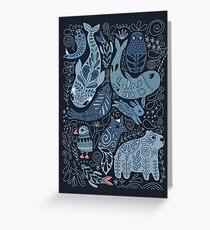 Arctic animals Greeting Card