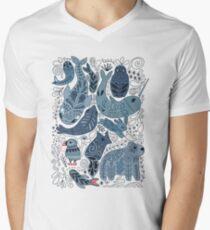 Arctic animals Men's V-Neck T-Shirt