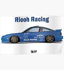 Itai Ricoh Racing 180sx Poster