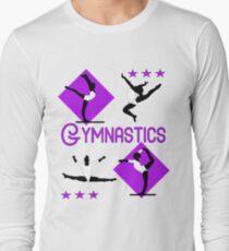 Gymnastics Fun Super Cute Gymnasts Graphic  Long Sleeve T-Shirt