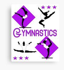 Gymnastics Fun Super Cute Gymnasts Graphic  Canvas Print