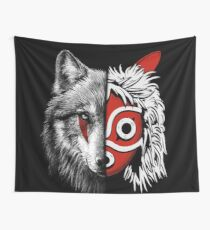 Wolf white and Princess mask Wall Tapestry