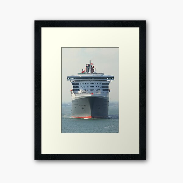 Queen Mary 2 Framed Art Print