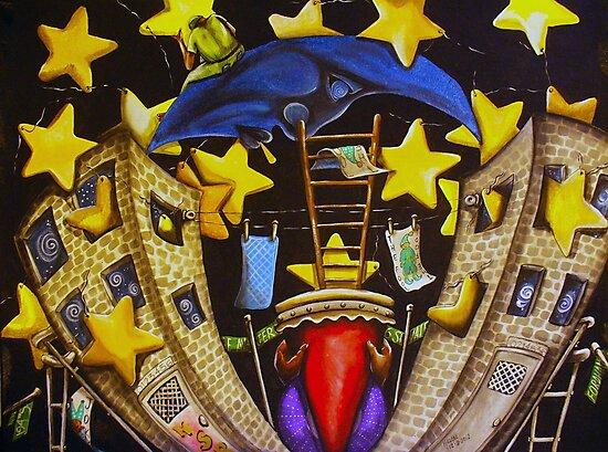 A Starry Night in The Bronx by helene ruiz