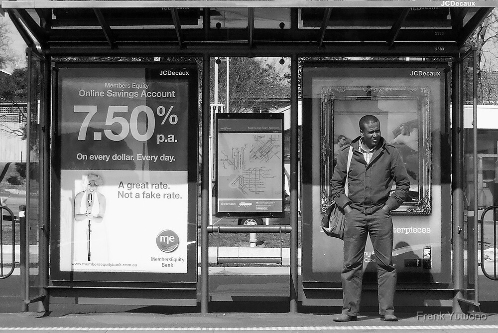 Tram Stop Blues by Frank Yuwono