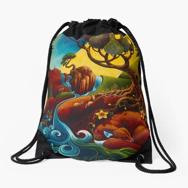 Tranquil Heart - Detail Drawstring Bag