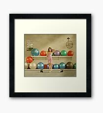 Three Iced Donuts Framed Print