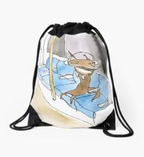 Commuter Wolf- Funny Animal Design: 'Lurking Wolves' Drawstring Bag
