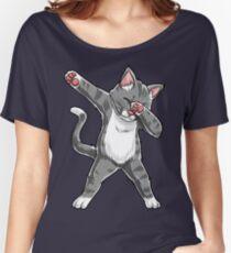Dabbing Cat Shirt Funny Cats meme Kitty Kitten Dab Cat Lover Gifts T-Shirt Women's Relaxed Fit T-Shirt