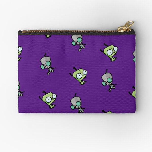 Checkered Gir pattern [Diagonal] Zipper Pouch