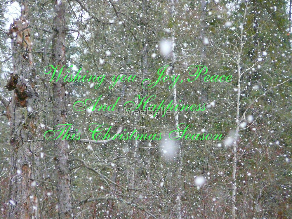 Snowflakes Falling CHRISTmas card by MaeBelle