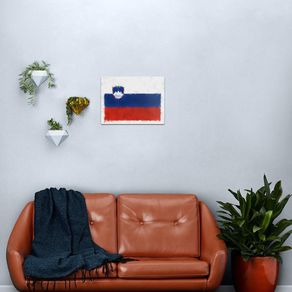 Slovenia Flag Reworked No. 66, Series 5 Metal Print