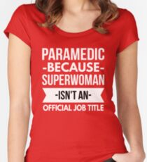 Paramedic Superwoman Women's Fitted Scoop T-Shirt