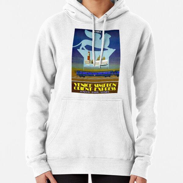 VENICE SIMPLON ORIENT EXPRESS; Travel Advertising Print Pullover Hoodie