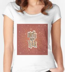 New Year Christmas winter holidays  Women's Fitted Scoop T-Shirt