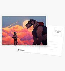 Mond brennen Postkarten