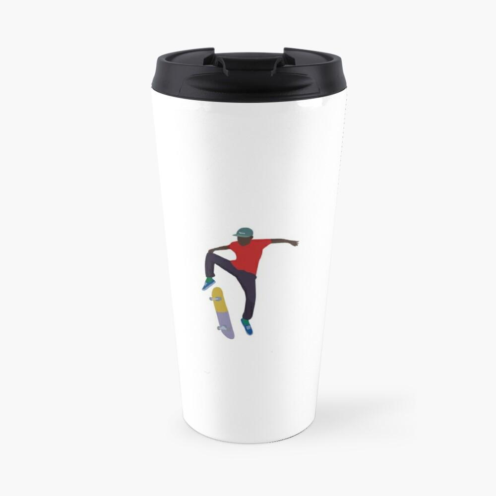 Tyler The Creator Skating Travel Mug By Zackziegler Redbubble