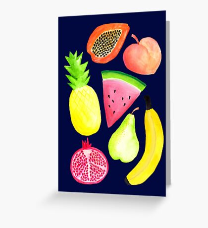 Tropical Punch - Navy Greeting Card