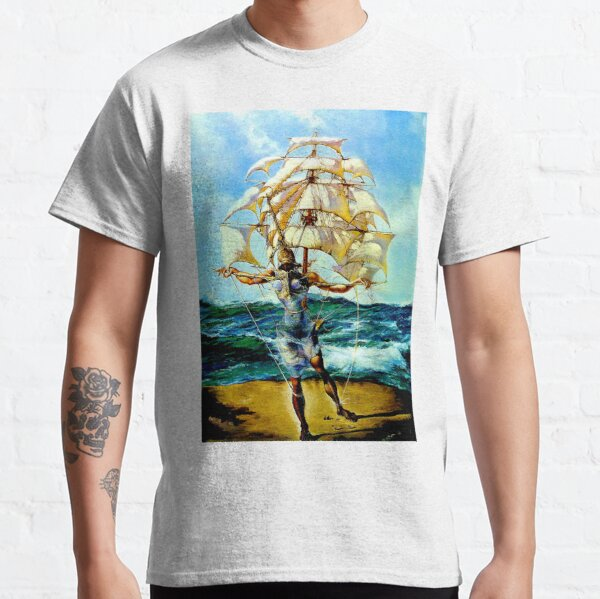 THE SHIP : Vintage Abstract Fantasy Painting Print Classic T-Shirt