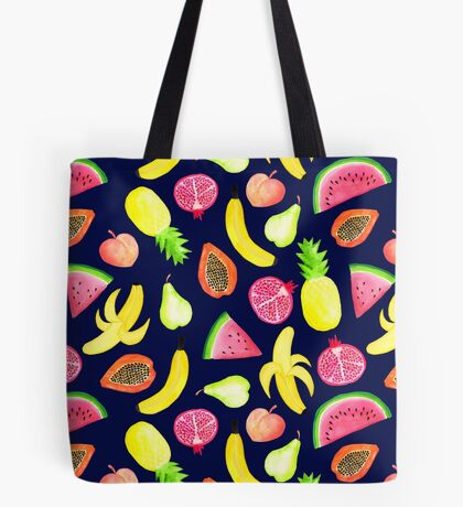 Tropical Punch - Navy Tote Bag
