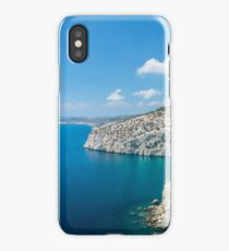 Island cliff and rocks wit turqoase color water iPhone Case/Skin