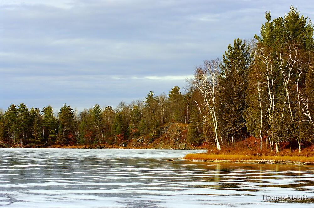 Timms Lake on Ice by Thomas Sielaff