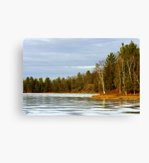 Timms Lake on Ice Canvas Print