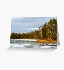 Timms Lake on Ice Greeting Card
